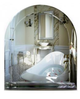 Зеркало с полкой для ванной комнаты 3 01 (70смx60см)