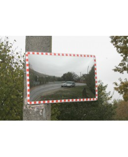 Cферическое прямоугольное дорожное зеркало CПД 45 (450х800)