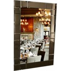 Зеркало с тонированным декором T 58 (110 см х 70 см)