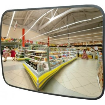 Cферическое прямоугольное зеркало безопасности CПБ 45 (45х80 см)