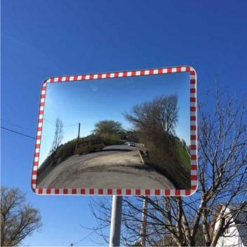Cферическое прямоугольное дорожное зеркало CПД 60 х 80 см
