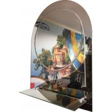 Тонированное зеркало с гравировкой TГ 01 (68см х 50см)