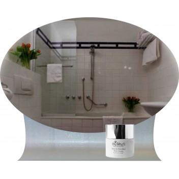 Зеркало в ванную с гнутой полкой ДГ 03 (60см х 40см)