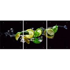 """Модульная картина на стекле """"Лимоны"""""""