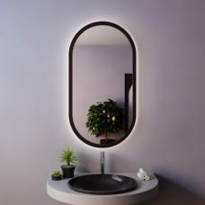 Зеркало овальное с подсветкой LOFT BLACK  (90 см х 50 см)