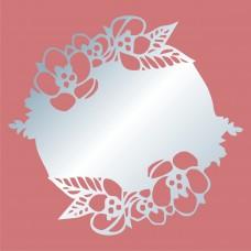 Акриловое зеркало Цветы