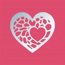 Акриловое зеркало Сердце