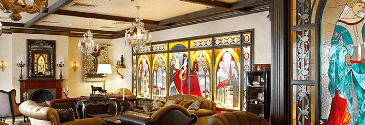 Витражные стекла в интерьере