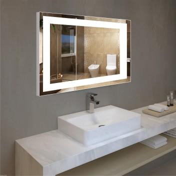 Зеркало с подсветкой в алюминиевой  рамке PA 1 (60 см х 80 см)