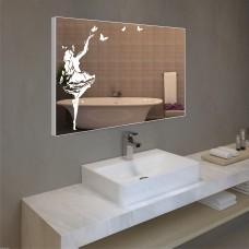 Зеркало с подсветкой в алюминиевой  рамке  PA 10 (60 см х 80 см)