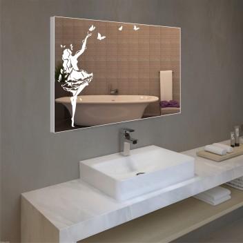 Зеркало с подсветкой в алюминиевой  рамке  PA 10 (60см х 80см)
