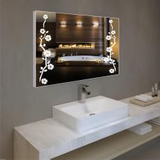 Зеркало с подсветкой в алюминиевой  рамке  PA 11 (60 см х 80 см)