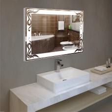 Зеркало с подсветкой в алюминиевой  рамке  PA 3 (60см х 80см)