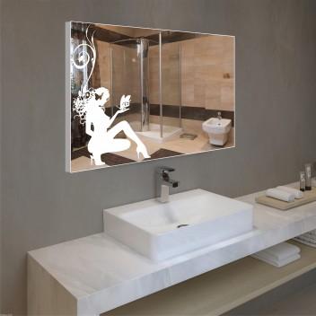 Зеркало с подсветкой в алюминиевой  рамке PA 7 (60 см х 80 см)