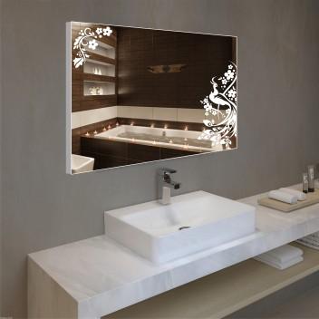 Зеркало с подсветкой в алюминиевой  рамке PA 8  (60см х 80см)