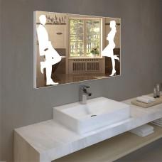 Зеркало с подсветкой в алюминиевой  рамке  PA 9 (60 см х 80 см)