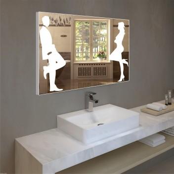 Зеркало с подсветкой в алюминиевой  рамке  PA 9 (60см х 80см)