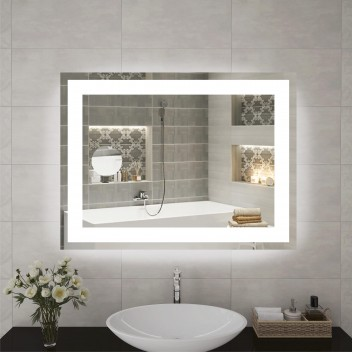 Зеркало с подсветкой  P 1 и увеличительным зеркалом (60 см х 80 см)