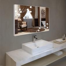 Зеркало с подсветкой в алюминиевой  рамке  PA 12 (60 см х 80 см)