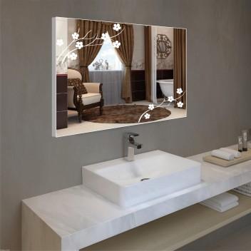 Зеркало с подсветкой в алюминиевой  рамке  PA 12 (60см х 80см)