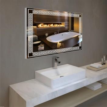Зеркало с подсветкой в алюминиевой  рамке  РA 4 (60 см х 80 см)