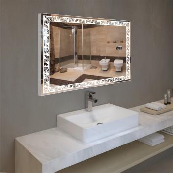 Зеркало с подсветкой в алюминиевой  рамке PA 5 (60см х 80см)