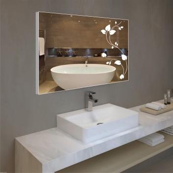 Зеркало с подсветкой в алюминиевой  рамке  PA 13 (60 см х 80 см)