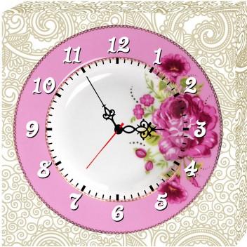 Модульные картины с часами  H 012 (40см х 40см)