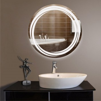 Зеркало круглое c подсветкой ЛК 2 (Ø 70)