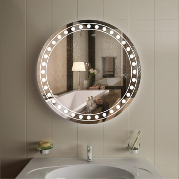 Зеркало круглое c подсветкой ЛК 4 (Ø 80)