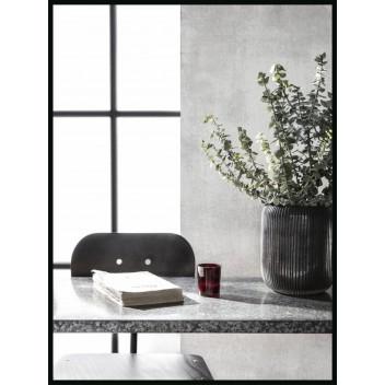 Зеркало в черной металлической раме (80 см х 60 см)