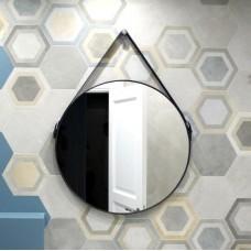 Зеркало LOFT BLACK на ремне (60 см х 60 см)