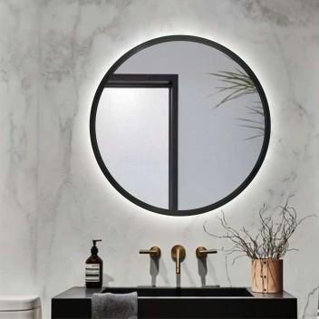 Зеркало с подсветкой LOFT BLACK  (70 см х 70 см)