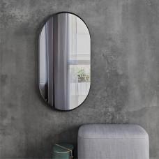 Зеркало овальное LOFT BLACK без подсветки  (90 см х 50 см)