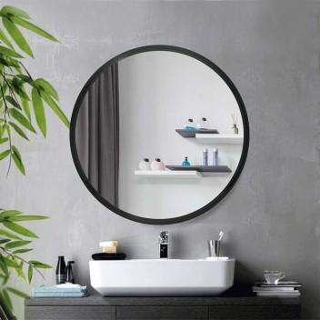 Зеркало LOFT BLACK без подсветки  (70 см х 70 см)