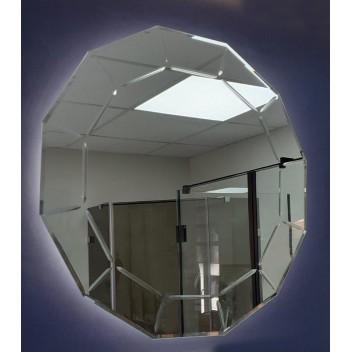 Зеркало c фоновой подсветкой и гравировкой  (80 см х 80 см)