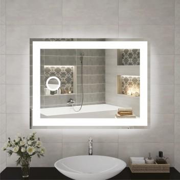 Зеркало P 1 с косметическим зеркалом и подсветкой  (60 см х 80 см)