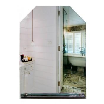 Зеркало в ванную с полкой 3 14 (70см х 50см)