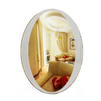 Овальное зеркало с декором MO 12 (75 см х 55 см)