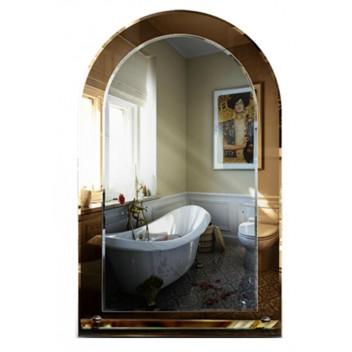 Зеркало в ванную с полкой T 33 (80см х 50см)