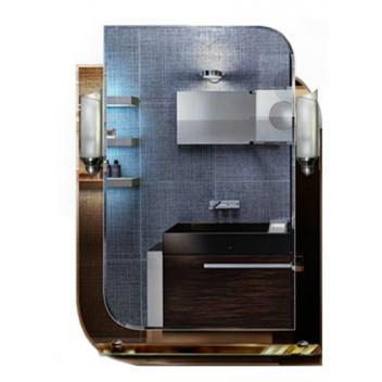 Зеркало с полкой в ванную комнату T 05c (80см х 58см)