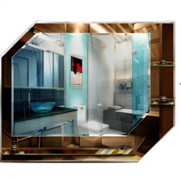 Зеркало с полками в ванную T 07 (58 см х 75 см)