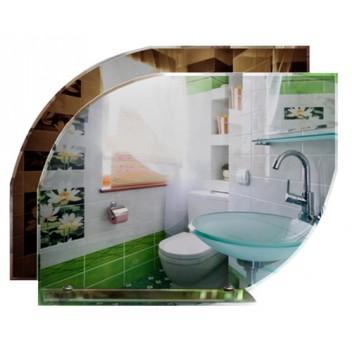 Зеркало в ванную с полкой T 10 (55см х 69см)