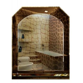 Зеркало в ванную с полкой T 11 (69 см х 55 см)