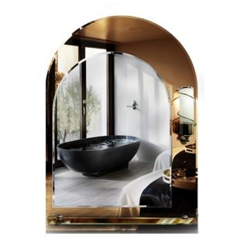 Зеркало с полкой в ванную T 18 (83см х 59см)