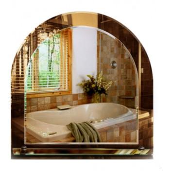 Зеркало в ванную с полкой T 19 (70 см х 58 см)