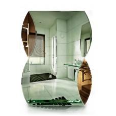 Зеркало в ванную с полкой T 26 (80 см х 60 см)
