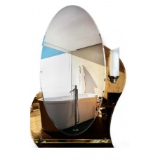 Зеркало с полкой в ванную T 27c (80 см х 55 см)