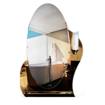 Зеркало с полкой в ванную T 27c (80см х 55см)