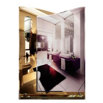 Зеркало с полкой в ванную T 30c (70см х 50см)